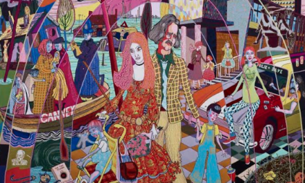 Grayson Perry tapestries go on show at the Shipley Art Gallery in Gateshead