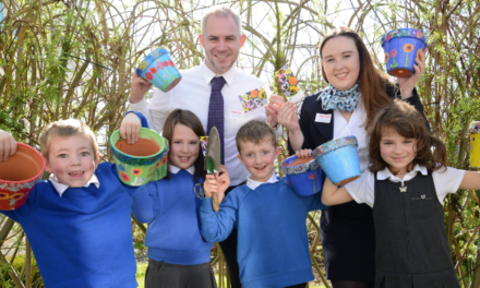 Local primary school team up with housebuilder to help Barnard Castle bloom