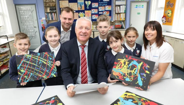 Pupils see their design vision realised as AkzoNobel launches STEM suite at Central Primary School