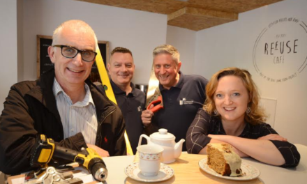 Newcastle Building Society supports local café on their building journey