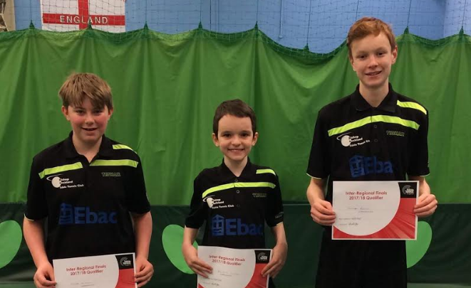 National finals for Bishop Auckland Table Tennis players
