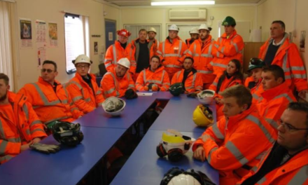 Derby University Students on site at Shotton to Mine Operational Information