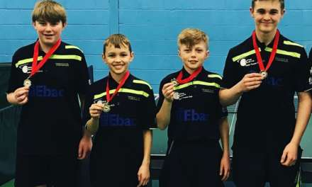 National Cadet League titles for Bishop Auckland Table Tennis Club