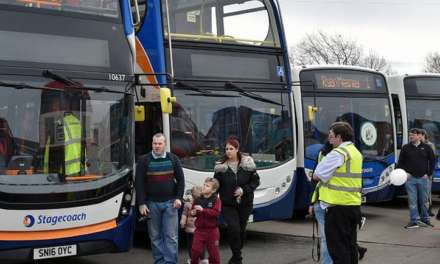 FROM VINTAGE TO GAS POWERED, STOCKTON GETS ON BOARD TO COMMEMORATE 50 YEARS OF BUSES