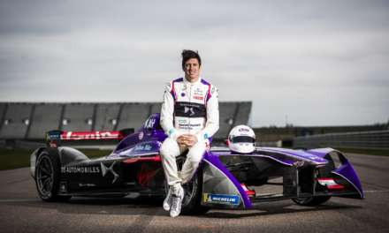 VERNON KAY DRIVES DS VIRGIN RACING'S FORMULA E CAR