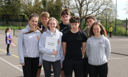Sports leaders serve up advice to young tennis players