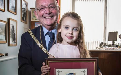 Inspirational three-year-old receives Chairman's Medal