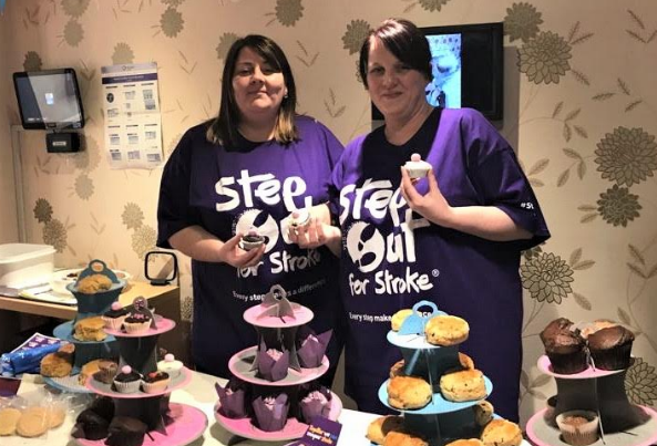 Care home cake sale for the Stroke Association