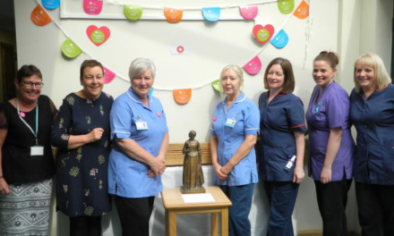 Statue of Florence Nightingale unveiled in honour of Butterwick Hospice nurses