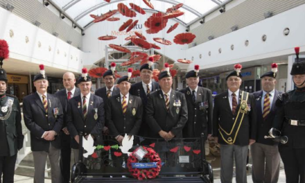 Lest we forget – Great War Memorial Bench unveiled at intu Metrocentre