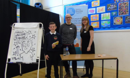 North East School Children Meet BAFTA Nominated Author and Illustrator