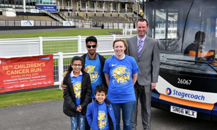 Stagecoach gets on board once more as Transport Partner for 36th North East Children's Fun Run