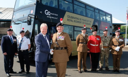 Go North East honours Fifth Fusiliers with 50th anniversary bus