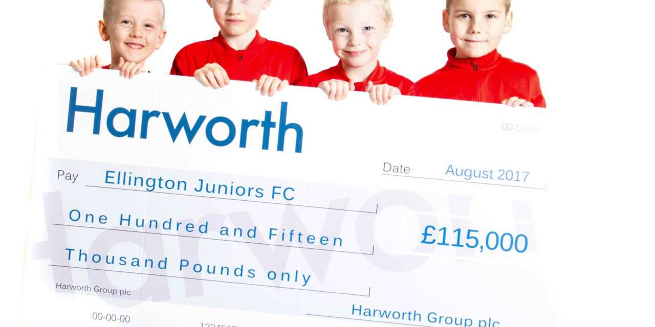 FUNDRAISING CAMPAIGN FOR NEW FOOTBALL FACILITIES KICKS-OFF WITH HELP FROM HARWORTH