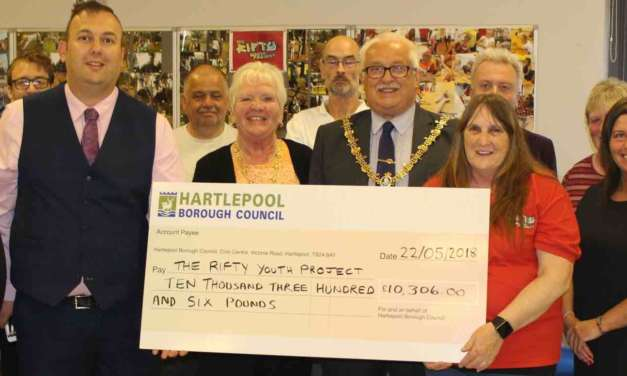 MAYOR RAISES OVER £21,000 FOR TWO TOWN CAUSES