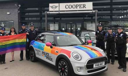 Police unveil rainbow car with pride