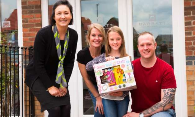 Local nine-year-old wins housebuilder's crafty colouring competition