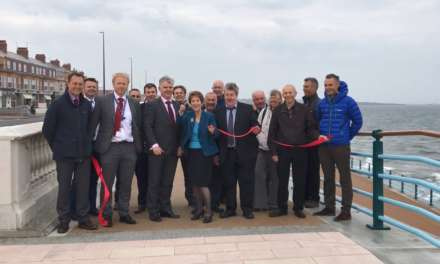 Elected Mayor cuts ribbon to mark opening of new-look promenade