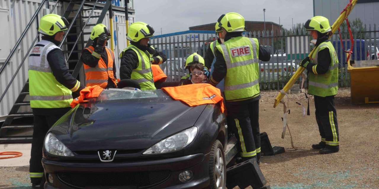 NETA students get a hard hitting lesson in road safety