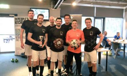 NEWCASTLE YOUNG PROFESSIONALS ON THE BALL FOR CHARITY FOOTBALL CHALLENGE