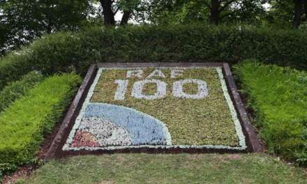 Celebrating 100 years of the RAF in flowers