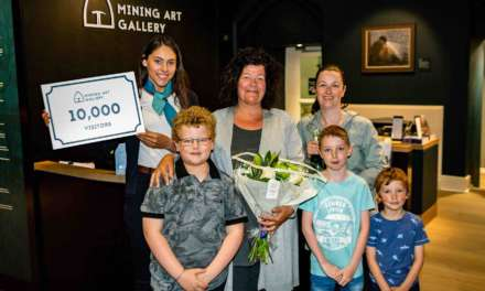 Mining Art Gallery welcomes its 10,000th visitor