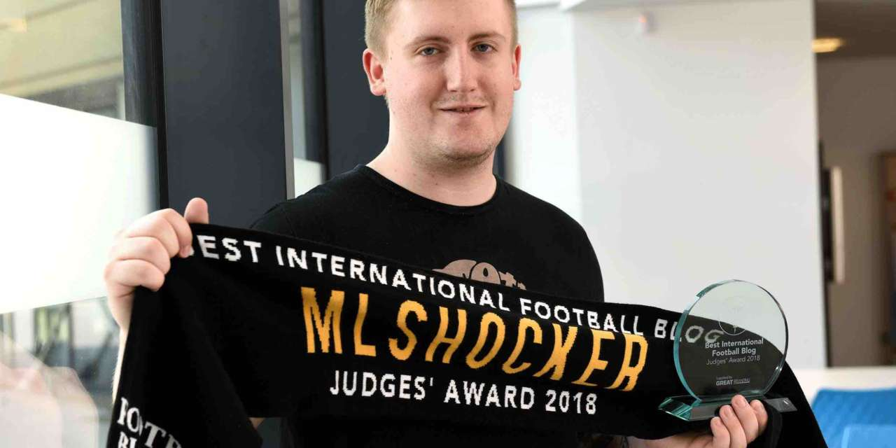 Young football blogger scoops top prize at national awards