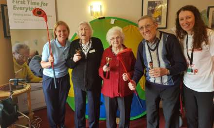 Residents at Meadow Park Care Home, Bedlington try Rookie Golf for the first time