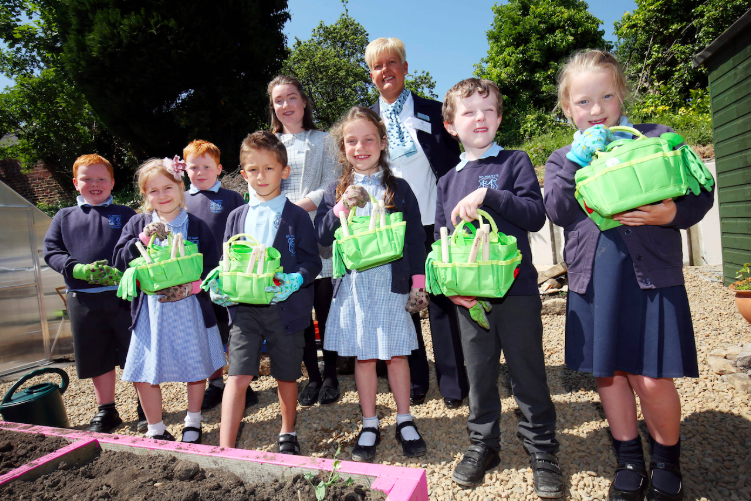 David Wilson Homes North East encourages Hexham pupils to bloom with brand new Gardening Kits