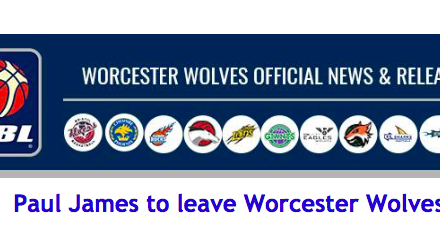 Paul James to leave Worcester Wolves
