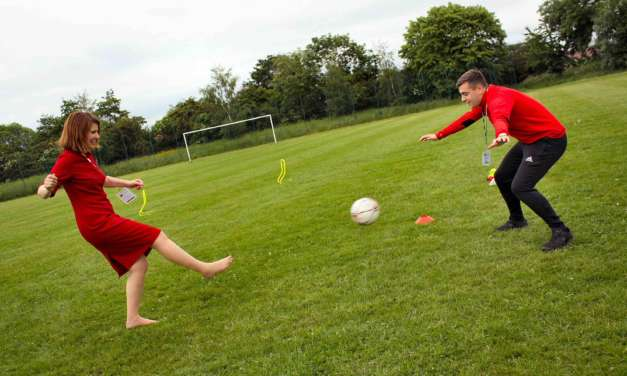 on the ball pupils raise cash with charity shootout