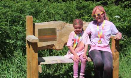 Police hero's widow and daughter start forest fun run in aid of hospice