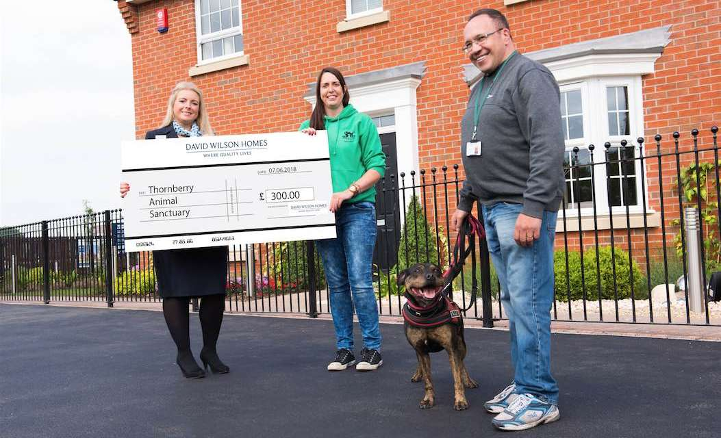 Helping furry friends – local housebuilder supports animal rescue centre