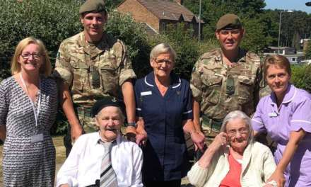 Soldiers visit elderly veteran on Armed Forces Day