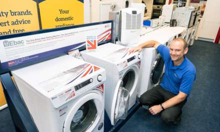 Clocktower one of first with new British made washers from Ebac supporting British manufacturing