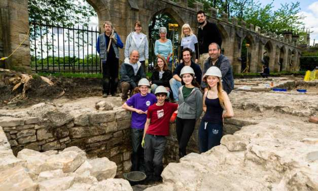 Medieval features uncovered at historic County Durham castle