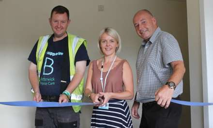Hospice revamp opened after DIY appeal