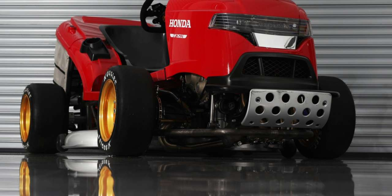 IT'S BACK…MEANER, LOUDER AND FASTER – HONDA'S 150MPH LAWN MOWER #MEANMOWER