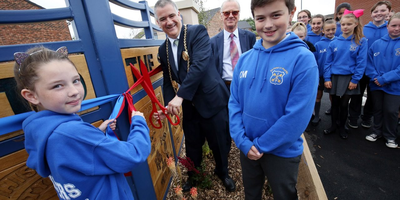 Artwork unveiled at opening of £4m development