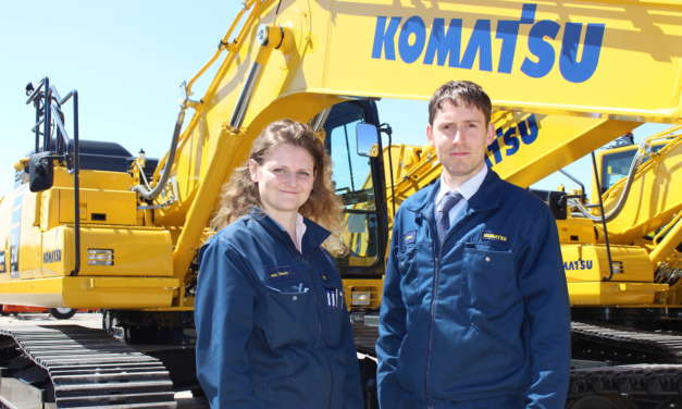 Graduates gain on the Komatsu fast track