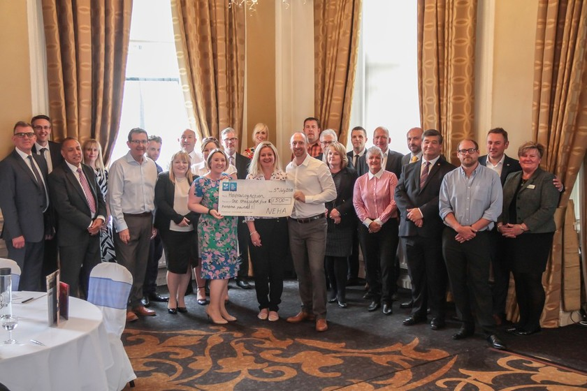 North East Hoteliers donation gives national trade charity a boost