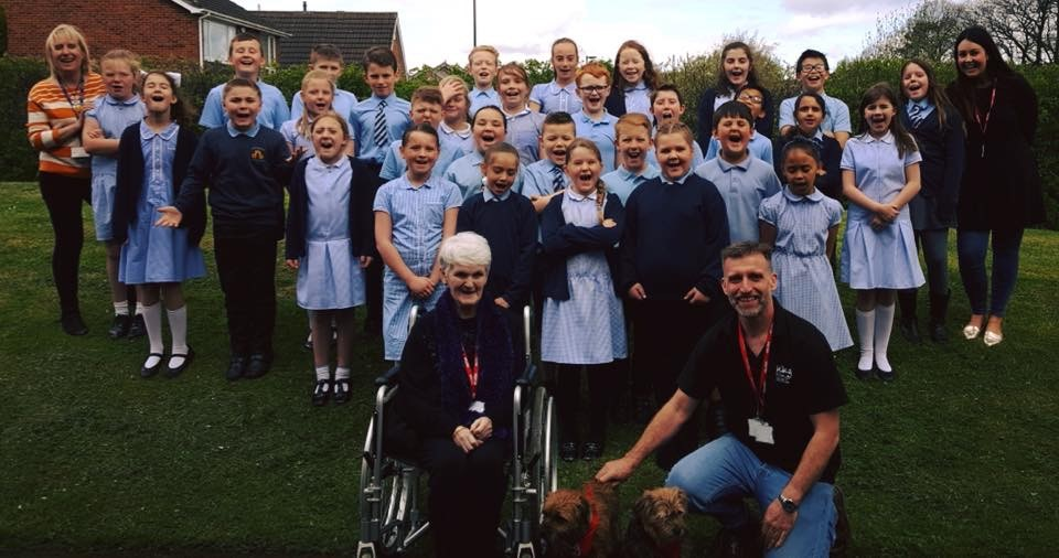 School teams up with Wag & Company to bring a smile to care home residents