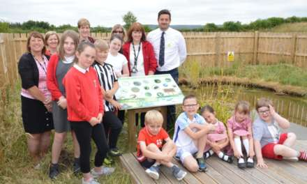 Roseberry Schoolkids Dipping Into Outdoor Education With New Community Pond
