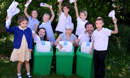 Going green! Housebuilder supports local primary school's recycling initiative