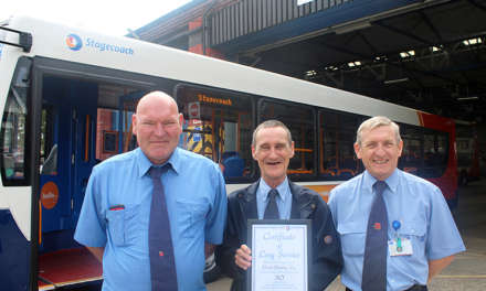 96 Bus Staff Celebrate 2655 Year Service Record