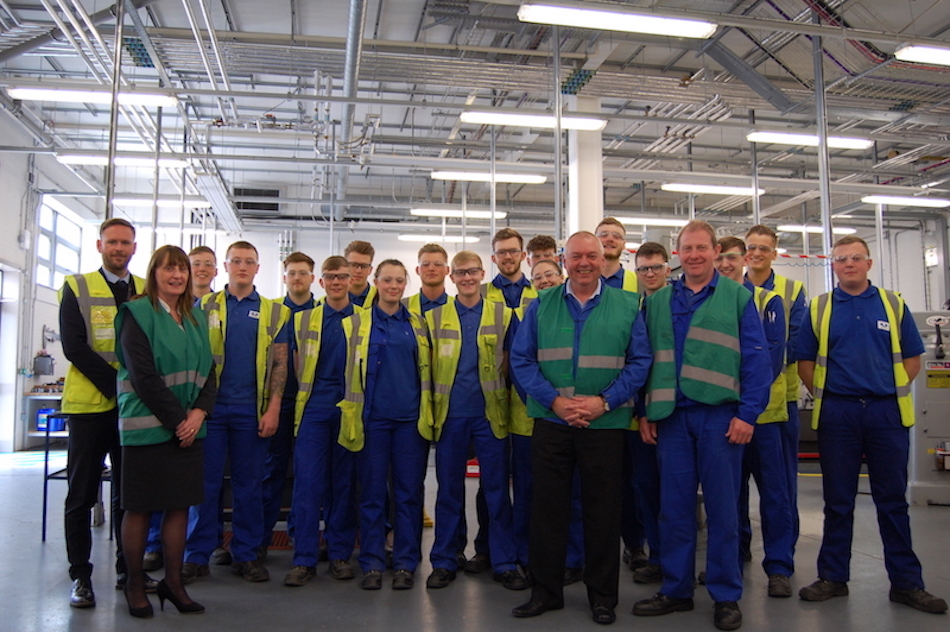 Unipres increases its apprenticeship intake with Hartlepool College of Further Education