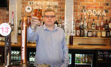 PUBS HAND OUT PINTS TO ARMED FORCES …