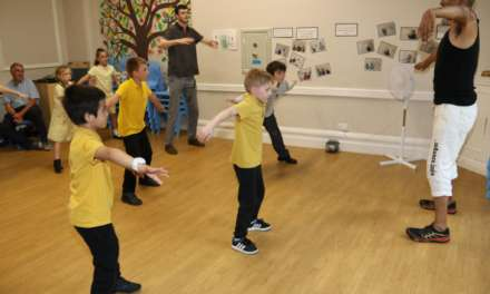 Children have stomping good time at workshops