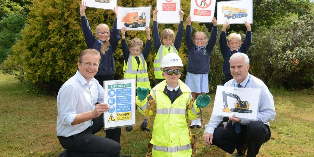 Miller Homes Helps Northumberland Children Achieve Top Marks For Health And Safety