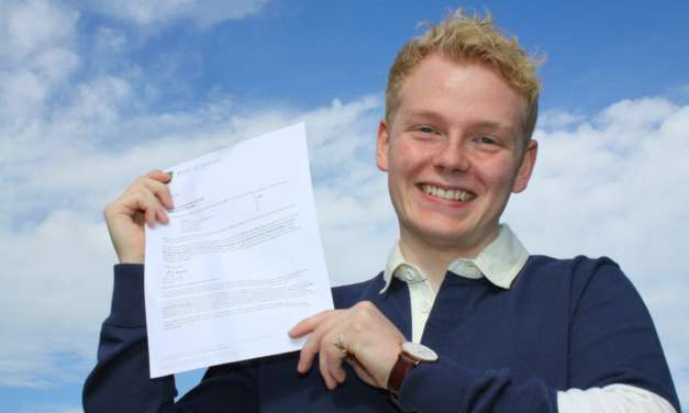 A-Level resitter shows determination pays off